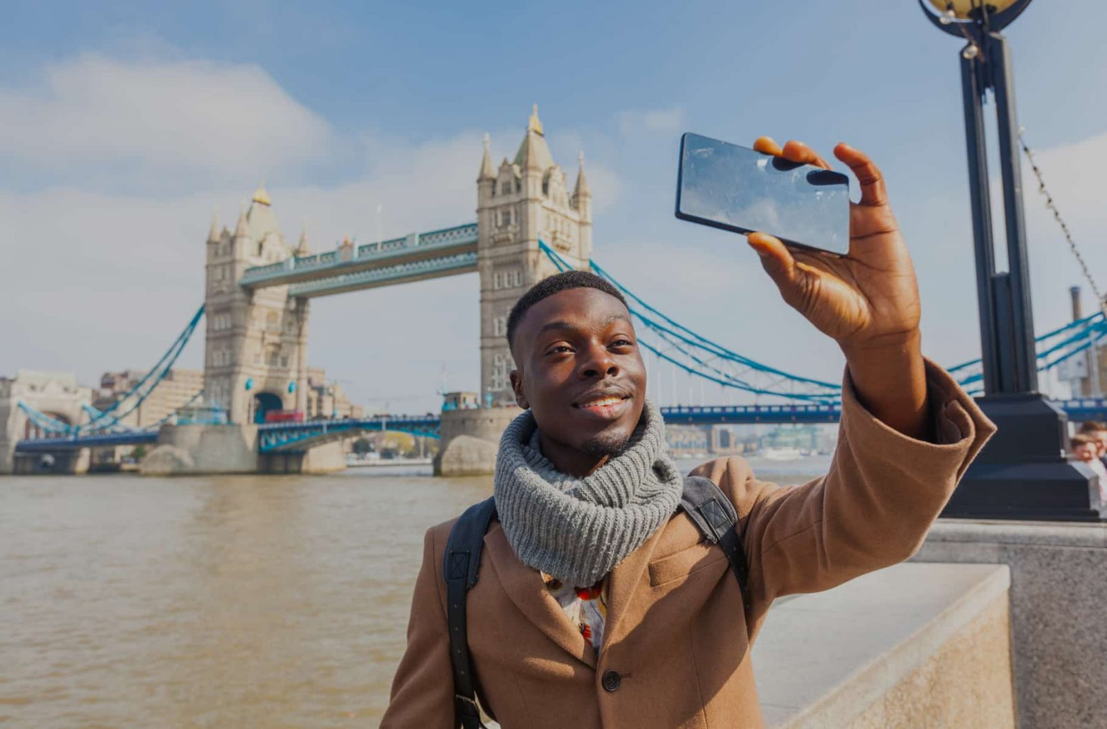 Selfie by the river Thames